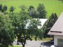 Blick auf das Kierzelt in Oberndorf